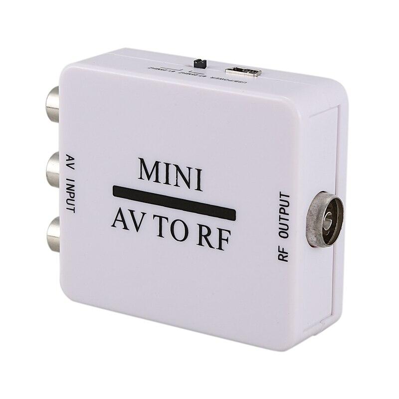 Mini Rca Cvsb Av To Rf Adapter 67.25Mhz 61.25Mhz Video Audio Tv Signal Switcher Box Converter|  - title=