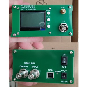 Image 2 - משלוח חינם FA 2 1Hz 12.4GHz תדר דלפק ערכת תדר מטר סטטיסטי פונקצית 11 ביטים/sec + כוח מתאם