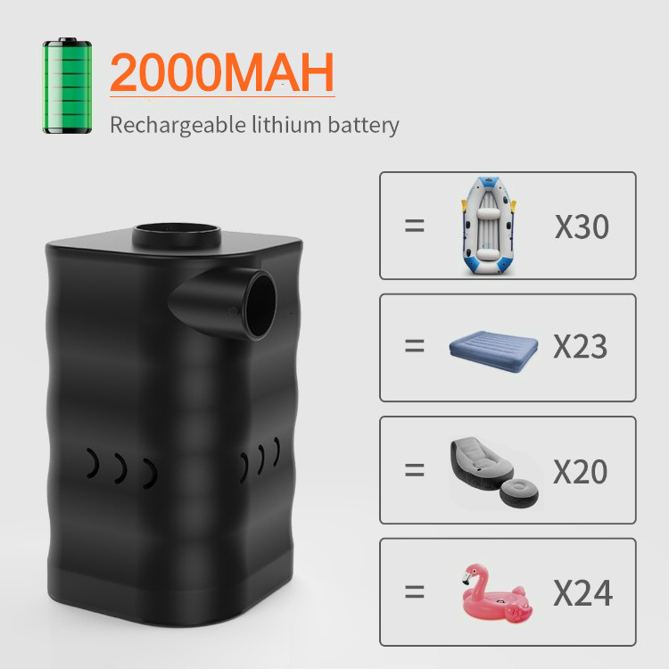 Car charging electric low pressure usb 12v dc mini hand air pump for inflatable camping products