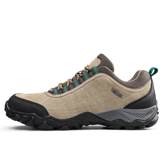 Humtto New Arrival Leather Hiking Shoes Wear-resistant  Outdoor Sport Men Shoes Lace-Up Mens Climbing Trekking Hunting Sneakers 2