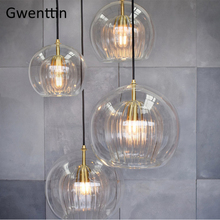 Nordic Glass Led Pendant Light Modern Kitchen Hanging Lights Bar Industrial Lamp Dining Living Room Lighting Fixtures Home Decor modern nordic rose plant pendant lights led glass hanging lamp for home decor luminaires dining room living room light fixtures