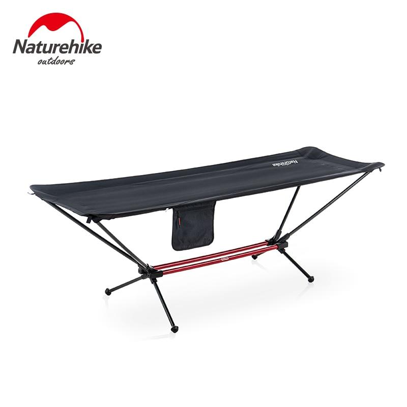 Naturehike Outdoor Einzigen Camping Cot Klapp Hängematte Tragbare Aluminium Legierung Halterung Hängematte Bett NH20JJ011