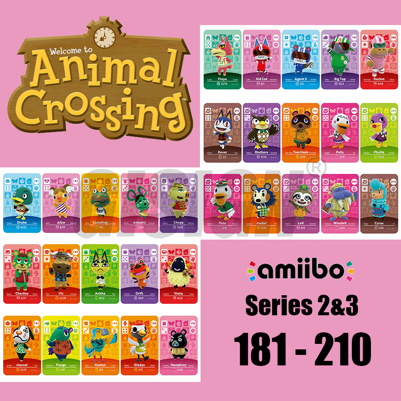 New Horizons Amiibo Animal Crossing Card For NS Switch 3DS Game Marshal Card Set NFC Cards Series 2 & 3 (181-210) 188 Ankha