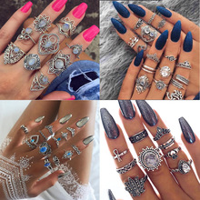 5-13 Design Boho Vintage Gold Star Midi Moon Rings Set for Women Opal Crystal Midi Finger Ring 2020 Female Bohemian Jewelry Gift 26 design boho vintage gold star midi moon rings for women opal crystal midi finger ring 2020 female bohemian jewelry gifts