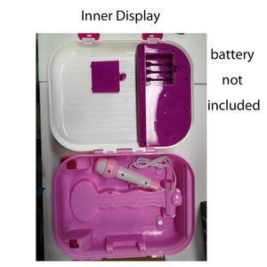 Image 3 - 어린이 음악 수하물 가방 가라오케 노래 기계 마이크 age3 + 소년 소녀 재미 있은 선물 장난감 악기