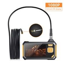 Nghề Nghiệp Hai Ống Kính Camera Nội Soi Công Nghiệp Kỹ Thuật Số Màn Hình LCD 4.3Inch Loài Rắn Camera 1080PHD IP67 Chống Nước Kiểm Tra 32GB
