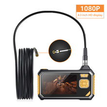 Profession Dual Lens Industrial Endoscope Digital 4.3inch LCD Snake Camera 1080PHD IP67 Waterproof Inspection Camera With 32GB