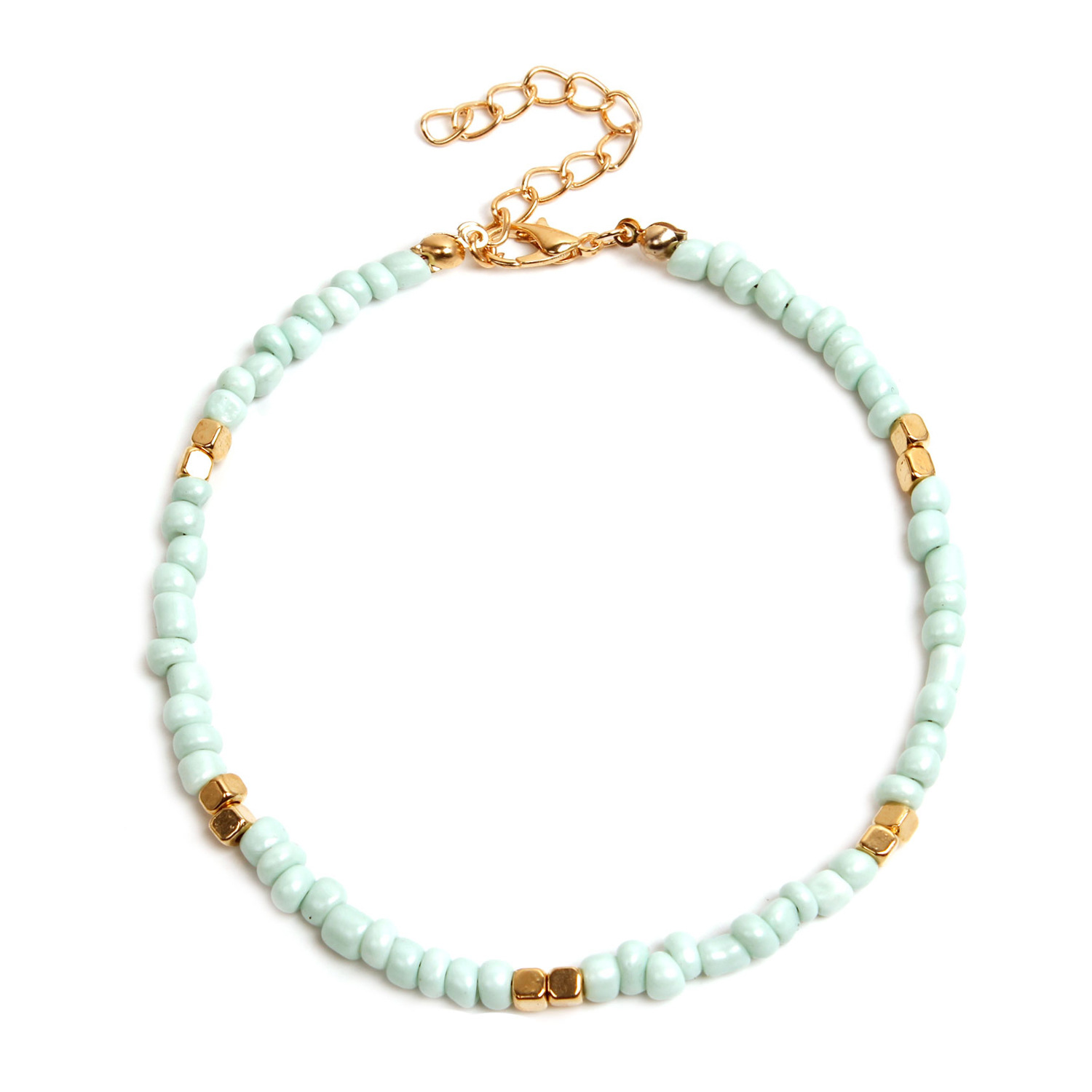 10Colors Bohemian Colorful Crystal Seed Beads Anklets for Women Summer Ocean Beach Ankle Bracelet Foot Leg Jewelry Dropshipping