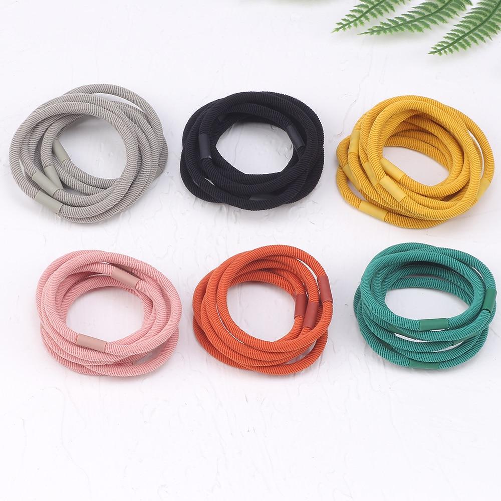 20pcs High Elasticity Nylon Rubber Bands Ponytail Holder Hair Bands Scrunchie Headband Hair Accessories Women Elastic For Girls