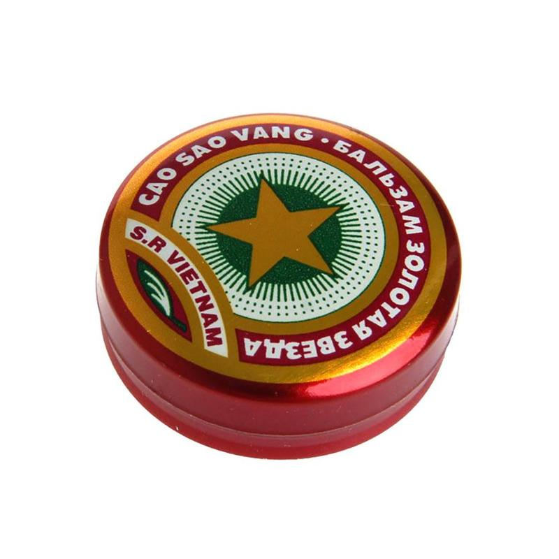 Headache Cool Oil Golden Star Tiger Balm Ointment Dizziness Insect Stings Heat Asterisk Stroke Insect Stings Essential Balm 4g