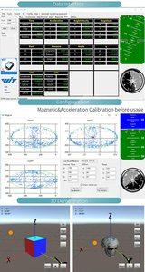 Image 5 - Witmotion bluetooth 2.0 BWT901 9軸センサーデジタル角度傾斜加速度 + ジャイロ + 磁力計MPU9250にpc/アンドロイド