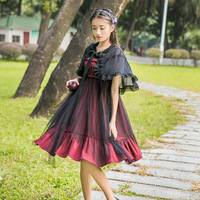 2019 women lace chiffon lolita dress gothic lolita fairy kei loose undershirt sweet lolita vestido lolita coat kawaii lolita