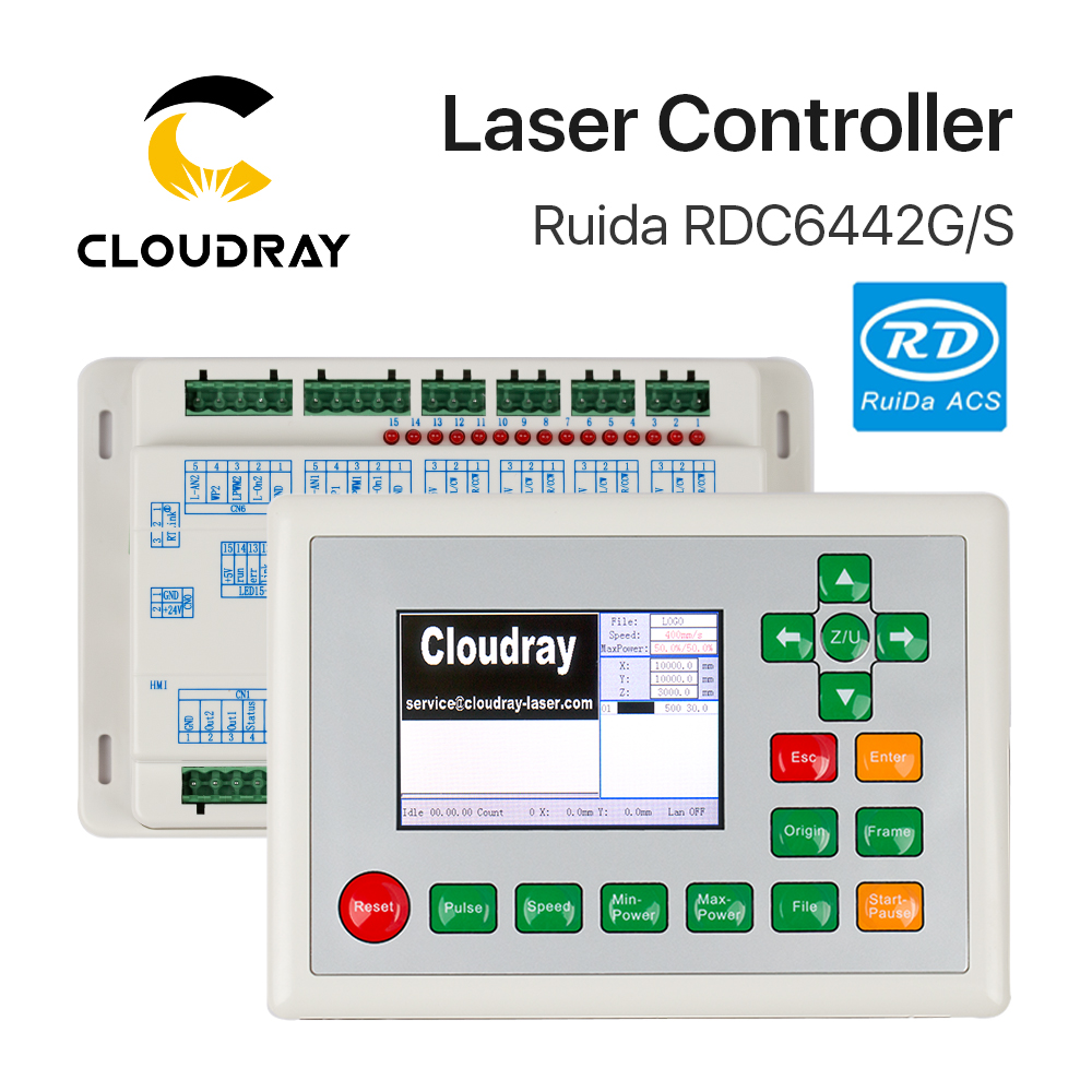 Cloudray Ruida RD RDC6442G Co2 لیزر DSP کنترلر برای حکاکی و برش لیزر دستگاه RDC 6442 6442G 6442S