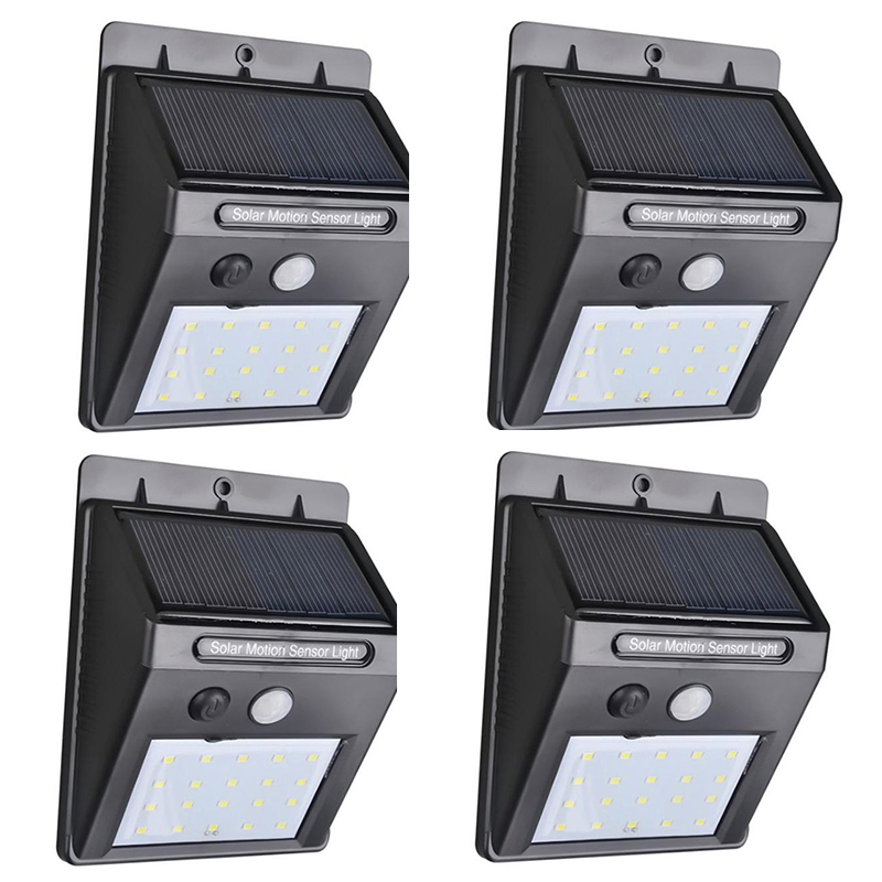 1-4pcs Solar Led Light Motion Sensor Security Wall Lamp Waterproof IP65 Outdoor Solar Lamp Garland Light For Garden Street Plaza