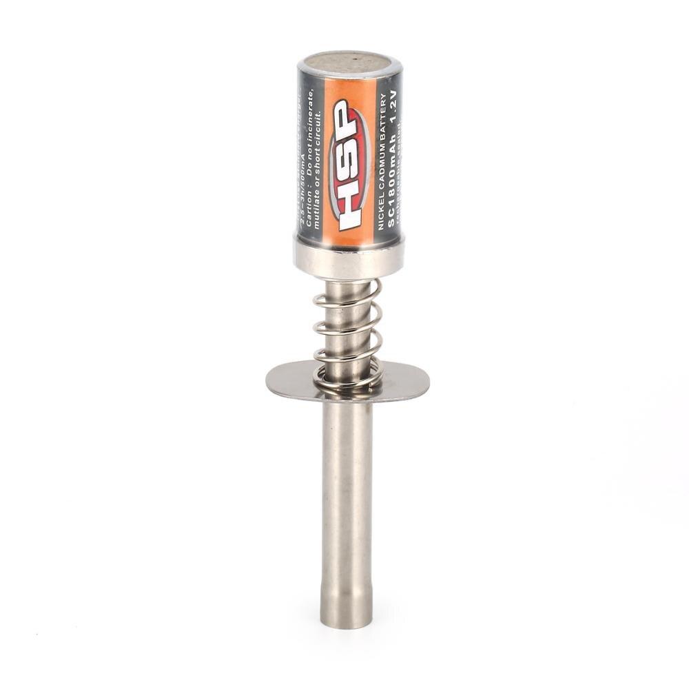 1.2v 1800mah recarregável nitro starter fulgor plug igniter wth carregador para hsp redcat nitro motor a gás power1/8 1/10 rc carro