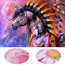 Cheval plume plein affichage carré/rond dessin animé diamant peinture diamant broderie strass photo diamant mosaïque Daimond(China)