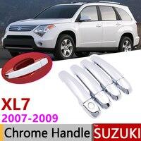 Suzuki için XL-7 XL7 2007 2008 2009 Lüks Krom Dış Kapı kulp kılıfı Araba Aksesuarları Çıkartmalar Trim Seti 4 Kapı