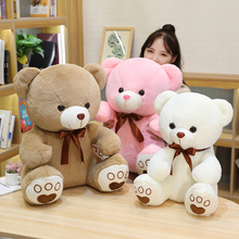High Quality 35/50/60CM 5 Colors Lovely Bow-Knot Teddy Bear Doll Stuffed Animal Bear Plush Toys Lovers Girls Birthday Baby Gift