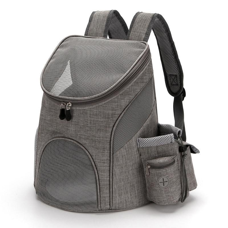 Переносная Сетчатая Сумка для собак, Воздухопроницаемый рюкзак для собак, складная вместительная сумка для переноски кошек, уличная дорожн...