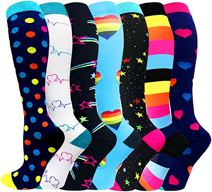 Anti Fatigue Women Men Compression Socks Support Pregnancy Health Socks Outdoor Sports Racing Cycling Sock