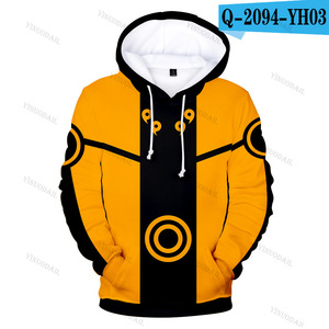 Image 5 - Naruto Hoodies Uchiha Syaringan Hooded Boys Uzumaki Naruto Pullover Men/women Cartoon Printed Clothes