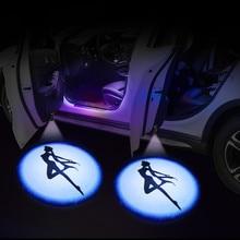 Btap 2 pces porta do carro luz de boas-vindas do carro lâmpada de luz interior do carro logotipo laser luz dc 5v universal sem fio projetor luz