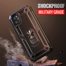 Shockproof Hybrid Tough Armor Case For iPhone 11 Pro MAX Magnetic Holder Ring Cover For iPhone X XR XS MAX XR 6 6s 7 8 plus Case все цены