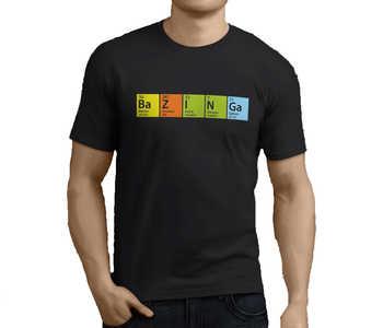 Kwiat nowe popularne Bazinga teoria wielkiego podrywu POAH męska czarna koszulka męska koszulki bawełniane Streetwear koszulki w stylu Harajuku t koszula moda tanie i dobre opinie Na zakupy SHORT DE (pochodzenie) COTTON Cztery pory roku Na co dzień Z okrągłym kołnierzykiem tops Z KRÓTKIM RĘKAWEM