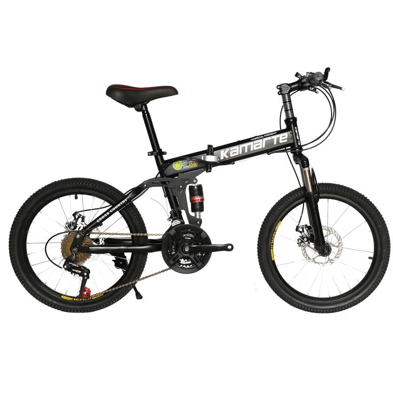21 Speed Children's Bicycle 20inch Folding Mountain Bike Two-disc Brake Lady Bike 5 Knife Wheel And Spoke Wheel Folding Bicycle