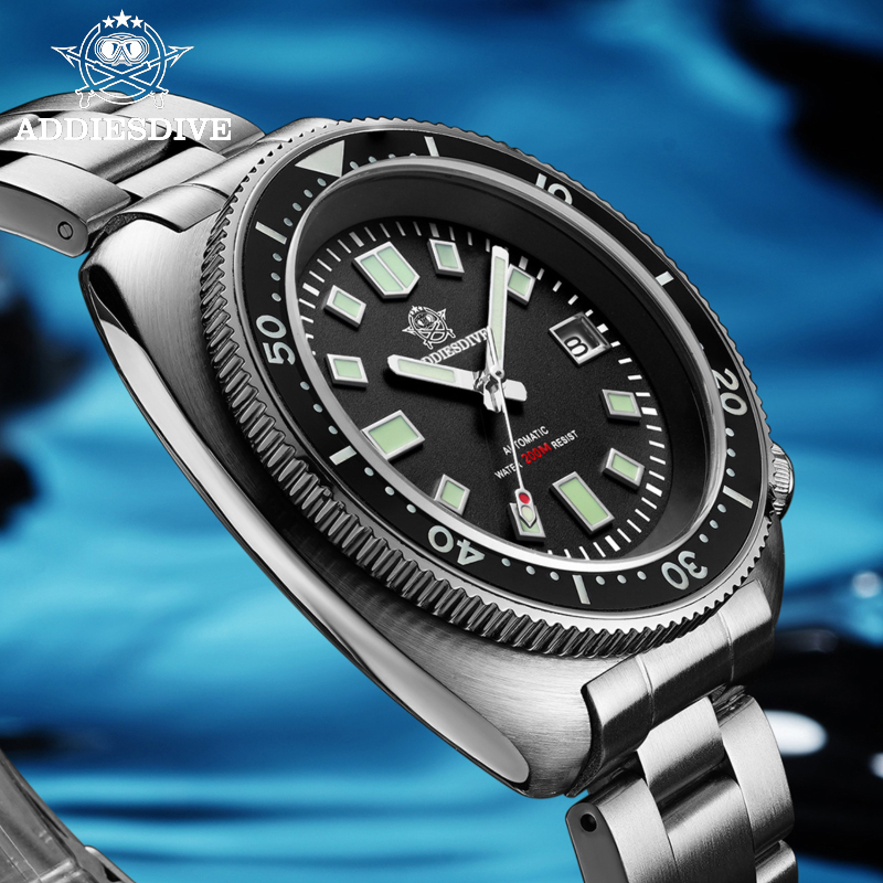 Waterproof automatic watch men Sapphire Crystal Stainless Steel NH35 Automatic Mechanical Men's watch 1970 Abalone Dive Watch 6