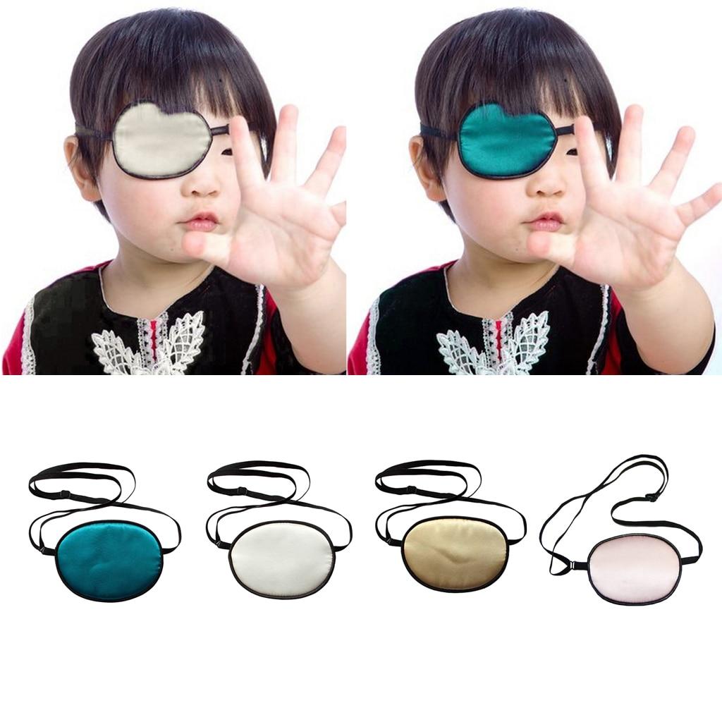 Adjustable Silk Amblyopia Kids Children Eye Patch Strabismus Lazy Eye Patches Pirate Eyepatch