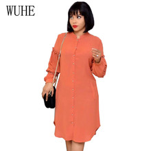 WUHE Plus Size 3XL Autumn Stitching Pleated Beaded Long Sleeve Femme Dress Elegant O-neck Hollow Out Casual Women Club Dresses