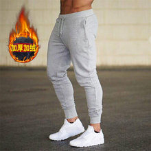 Muscle Fitness Brothers Men's Autumn And Winter Brushed And Thick Light Board Non-Logo Solid Color Cotton Beam Leg Sports Casual(China)