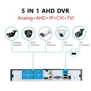 Image 3 - Hiseeu 4CH 8CH 1080P 5 в 1 DVR видеорегистратор для AHD камеры аналоговая камера IP камера P2P NVR cctv система DVR H.264 VGA HDMI