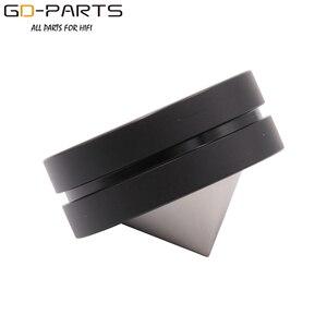 Image 3 - GD PARTS нержавеющая сталь графитовый динамик шип конус Hifi аудио AMP CD Studio проигрыватель изолирующая подставка ножки основание 39 мм