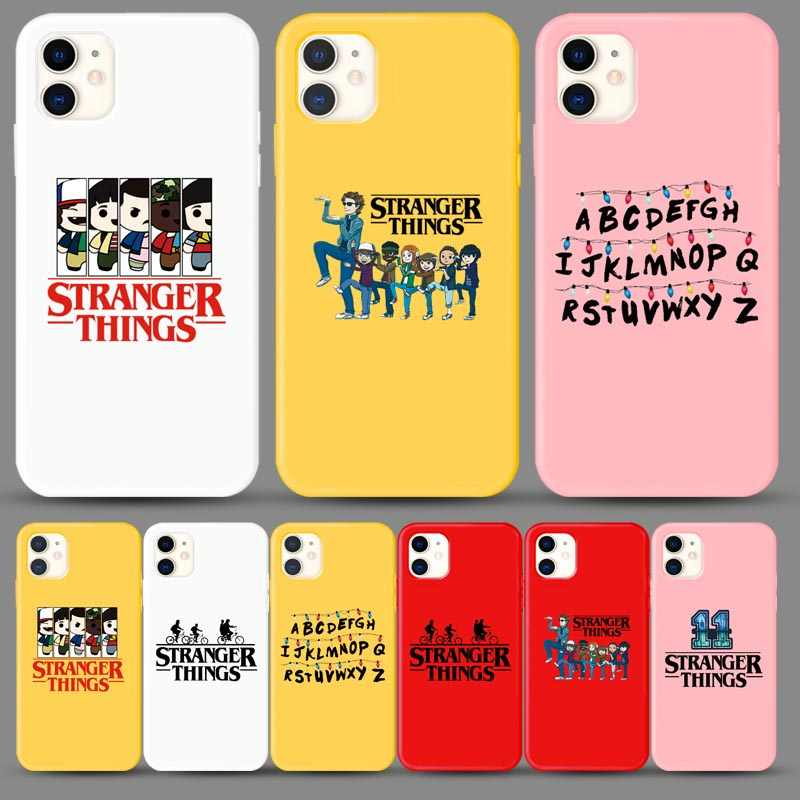 Stranger Things Christmas Lights Case For iphone 7 6S 8 Plus X XS MAX XR 11 PRO MAX Soft Matte silicone Phone Cases Back Cover