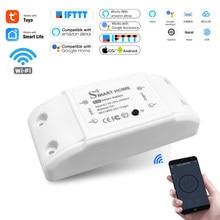 Maison intelligente Wifi sans fil commutateur à distance disjoncteur domotique LED contrôleur de lumière Module Alexa Google maison Smartlife Tuya APP