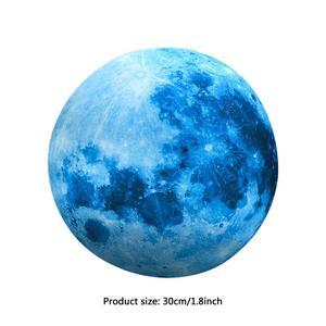 Светящаяся 3d-наклейка с голубой луной, 30 см, для гостиной, спальни, украшения детской комнаты, наклейки для дома, светится в темноте, настенна...