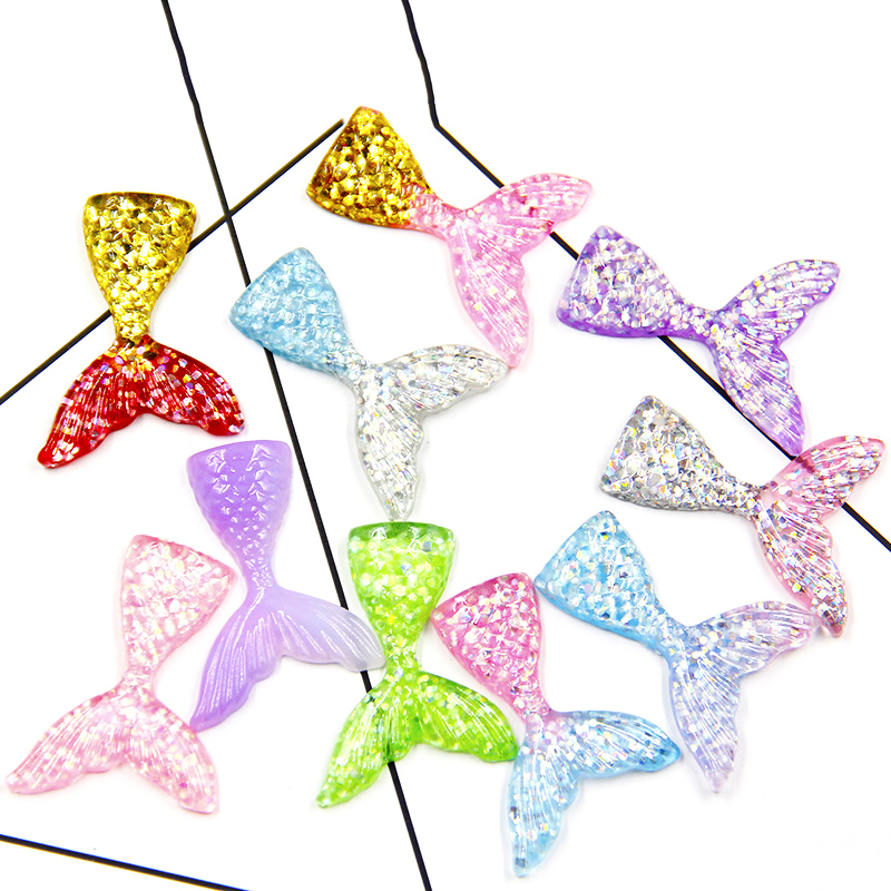 2pc/10pc Mermaid Tail Charms For Slime Accessories Filler Addition Toys Kids DIY Lizun Modeling Clay Fluffy Slime Decor Supplies
