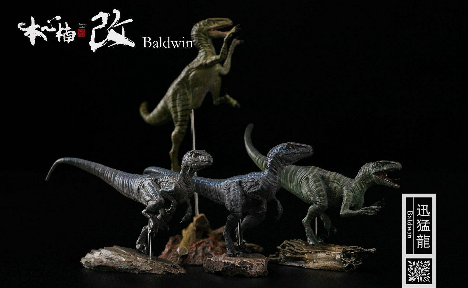PRE-ORDER! Nanmu 1/35 Raptorsquad Figure 4PCS Velociraptors Jurassic Dinosaur Collector Animal Toys Gift For Kids Adults