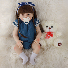 48CM Reborn Baby Doll Silicone Realistic Newborn Baby Dolls Full Silicone Lifelike Babies Handmade Toddler Dolls Toys For Kids 148cm real silicone sex dolls japanese anime full oral love doll realistic toys for men big life breast sexy mini vagina adult