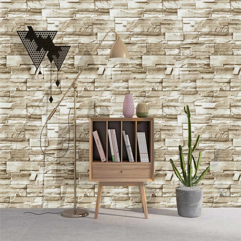 Stone Peel And Stick Wallpaper Faux Brick Vinyl Self Adhesive 3d Wallpaper For Bedroom Living Room Walls Home Decoration Sticker Wallpapers Aliexpress