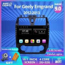 2DIN Android 9.0 Car DVD Player GPS de Navegação Multimídia Rádio Do Carro Para GEELY Emgrand EC7 2012 2013 Autoradio Car Stereo