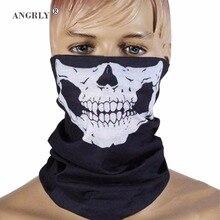 Хэллоуин пугающая маска фестивальные маски с черепом скелет Открытый Мотоцикл Велосипед мульти-маски Половина маска для лица кепки шеи призрак Горячий