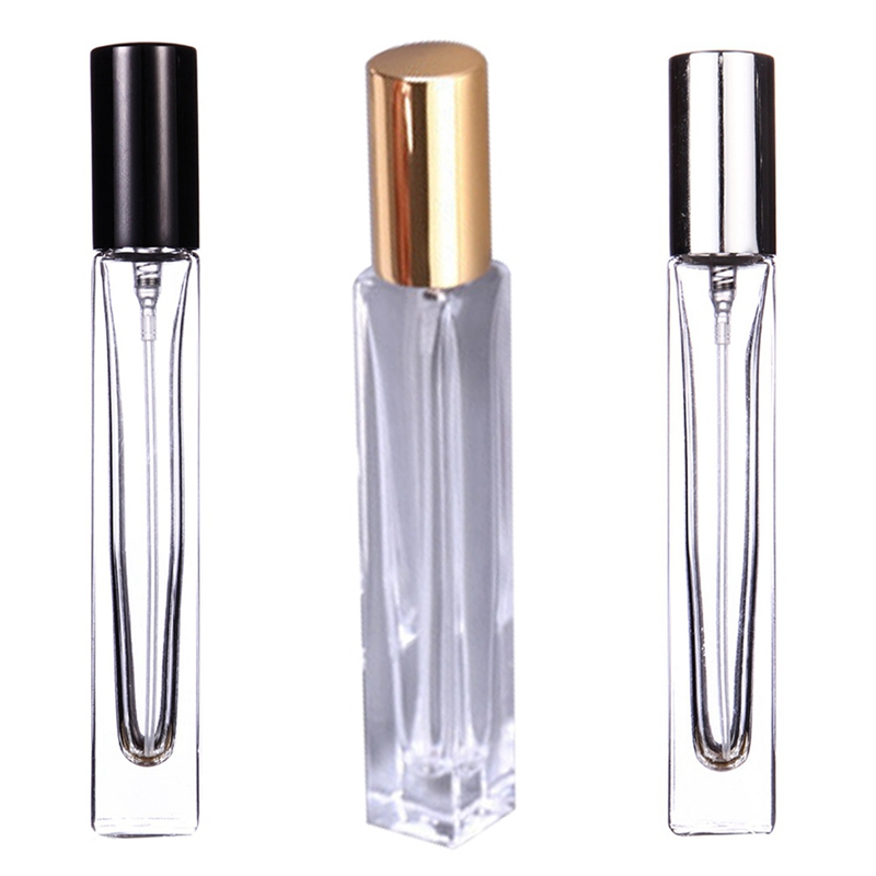 1Pc 10ML Portable Clear Glass Refillable Perfume Atomizer Empty Spray Bottle Travel Cosmetic Container