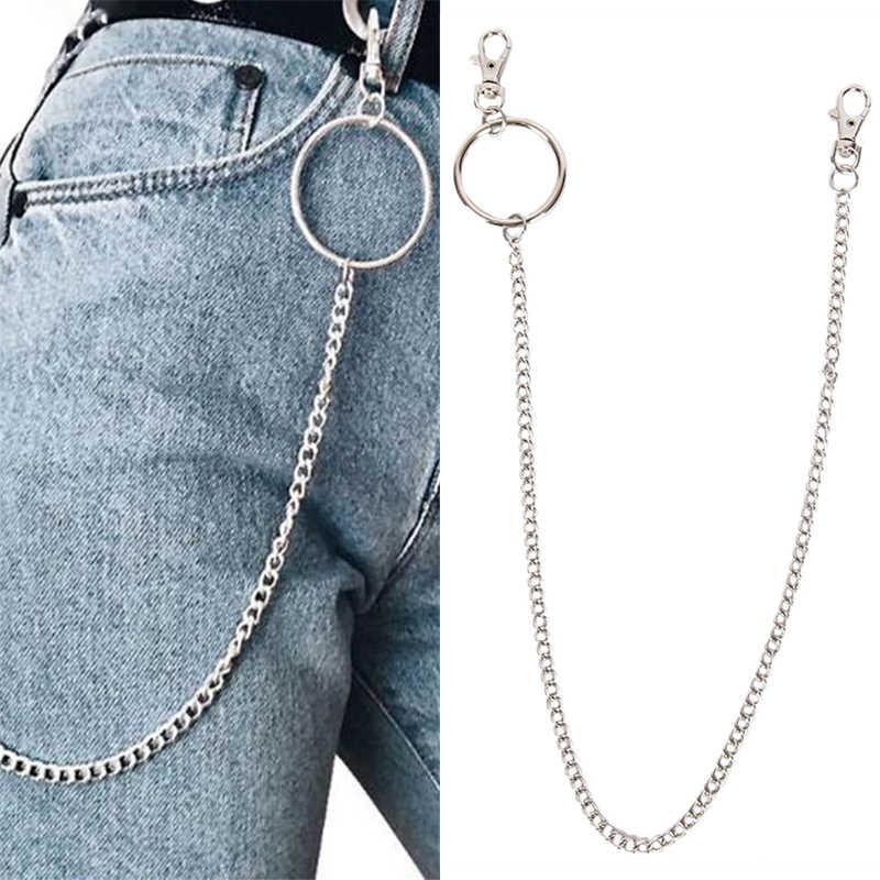 ROCK HIPHOP Punk กางเกง Hipster Key ยาว Street แหวน Key CHAIN กางเกง Jean พวงกุญแจ POP อุปกรณ์เสริม 65 ซม.