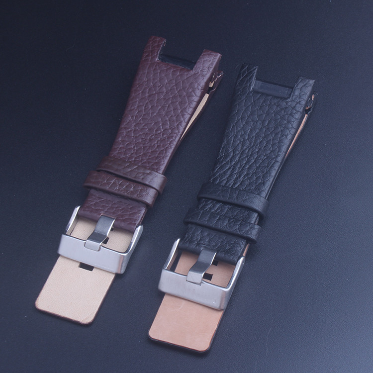 32mm Black Brown Genuine Leather Watch Strap Band Fits For Diesel DZ1430 DZ1215 with Tool