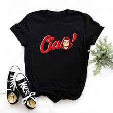 A casa de papel t camisa de dinheiro heist mulher la casa de papel camiseta engraçado camiseta de moda feminina de verão t camisa