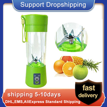 цена на 400ml Fruit Mixing Machine USB Juicer Cup Portable Juice Blender Household Fruit Mixer with Six Blades