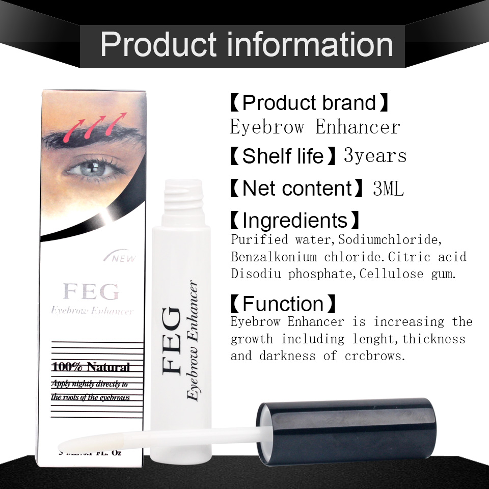 100% Original Professional Feg Eyebrow Enhancer Eyelash Growth Serum Natural Medicine Eyelashes Enhancer Lengthening Longer 4